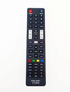 Controle Remoto Semp TCL Ct-8045 55l5400 55l7400 com Netflix