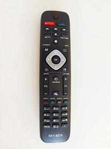 Controle Remoto TV Led Philips Smart Netflix / Vudu URMT41JHG006 / 50PFL5901 / 55PFL5601 / 55PFL6900