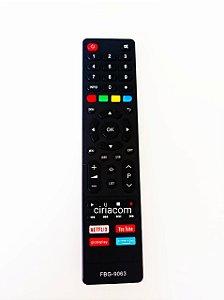 Controle Remoto TV Philco Smart com Netflix / Youtube / Globo Play / Prime Vídeo