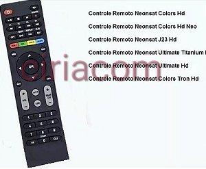 Controle Remoto Receptor Neon-sat Colors HD
