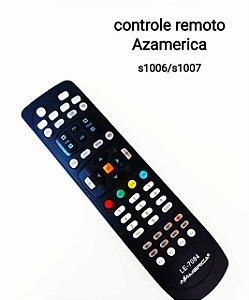 Controle Remoto Receptor Azamerica  S1006 S1007+ Plus HD