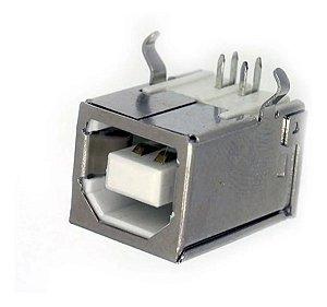 Conector USB Tipo B Femea  90 Graus 110886