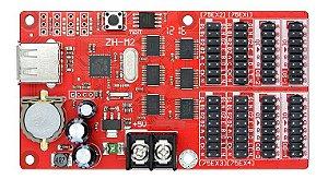Placa Controladora ZH-M2 4*HUB75 + 4*HUB08 Para Painel de LED K2583