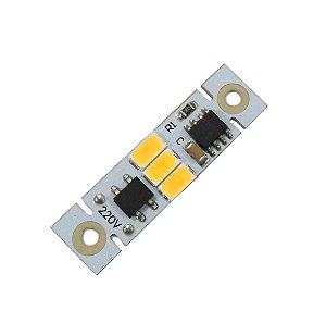 Módulo LED 2W Branco Quente 3000K com Driver Integrado 220VAC EXK2505