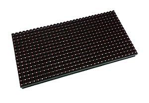 Módulo Painel LED P10 Vermelho 16x32PX 1/4 Scan HUB12 P10(1R)-V706 Interno K2476