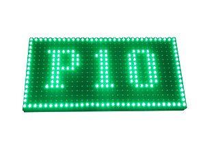 Módulo Painel LED P10 Verde 16x32PX 1/4 Scan HUB12 P10(1R) Interno K2475