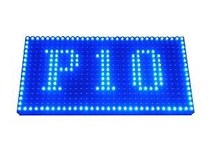 Módulo Painel LED P10 Azul 16x32PX 1/4 Scan HUB12 P10(1R) Externo K2474