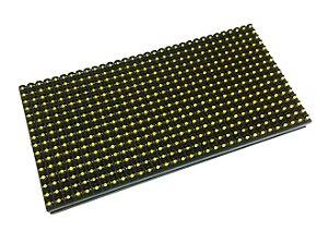 Módulo Painel LED P10 Amarelo Ambar 16x32PX 1/4 Scan HUB12 P10(1R) Interno K2471