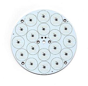 Placa MCPCB Para 18 LEDs 3030/3535 SMD 116mm 32665