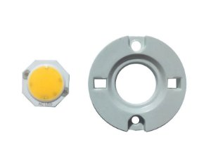 LED 3W Branco Quente 3000K driverless 220VAC 1313D9 C/ Holder K2418