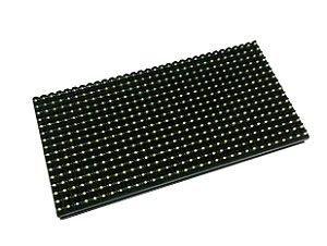 Módulo Painel LED P10 Verde 16x32PX 1/4 Scan HUB12 P10(1R) Externo K2390