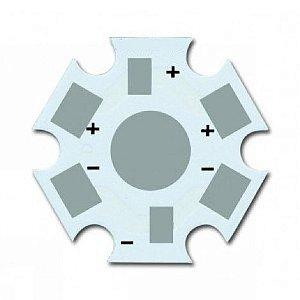 Placa MCPCB Estrela Branca Para LED De 1W Ou 3W K2352