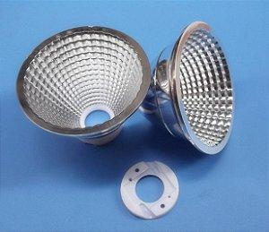 Refletor 15 Graus em Plástico Cromado Para LED Cree CXA25xx 75mm K2342