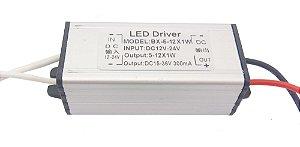 Fonte Driver Para 1 LED De 10W 12-24V IP67 K2269
