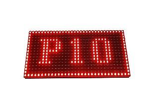 Modulo para Painel LED P10 Vermelho 32x16cm HUB12 P10(1R) Externo K2257