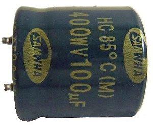 Capacitor Eletrolítico Rd 100uf/400v D25h25 85c PTH 100400