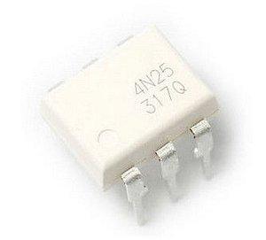 Circuito Optoacoplador 4N25 DIP6 PTH 101167