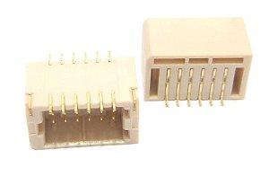 Conector Macho 2X6 Pinos 180 Graus B0131