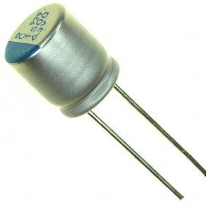 Capacitor Sólido 1500UF/6.3V D10H12 105C PTH K0016