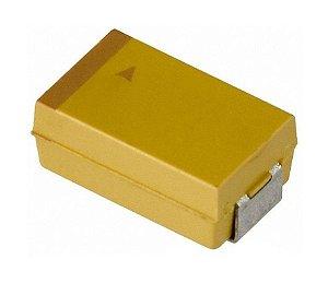 Capacitor De Tântalo 6.8uf/6.3v Size D SMD F0009