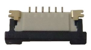 Conector ZIF FPC 1.0MM 6 pinos K0248