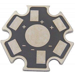 Placa MCPCB Estrela Preta Para LED De 1W Ou 3W K0508