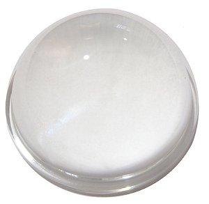 Lente 90 Graus em Vidro Para LED de 10W a 200W 78mm com Suporte Inox K1171
