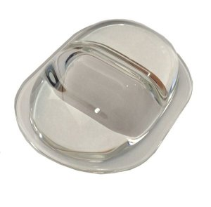 Lente 160-120 Graus em Vidro Para LED de 10W a 200W 107mm com Suporte Inox K1168