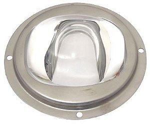 Lente 60-120 Graus em Vidro Para LED de 10W a 200W 78mm com Suporte Inox K1164
