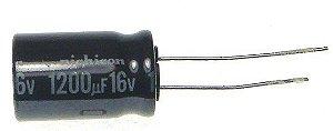 Capacitor Eletrolítico 1200UF/16V D10H25 105C PTH K1142