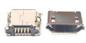 Conector Micro USB 5P 5.9 de 90 graus pinos longos K1447