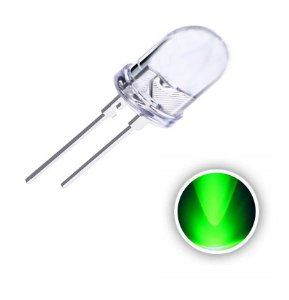 LED 10mm 0.5w Verde 520-525nm K1434
