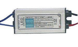 Fonte Driver LED de 10W ou 2 a 3 LEDs de 3W Bivolt IP67 K1341