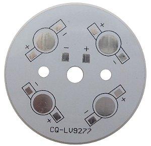 Placa MCPCB Redonda Para 4 LEDs de 1W 3W  K1594