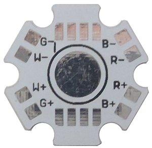 Placa MCPCB Estrela Para LED RGBW RGBY De 8 Terminais 4W Ou 12W K1592