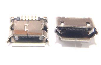 Conector Micro USB 5P pinos curtos niquelado K1564
