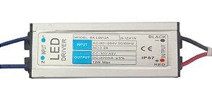 Fonte Driver Para 9 A 12 LEDs De 1W Ou 1 LED De COB 10W Bivolt IP67 K1525