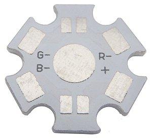 Placa MCPCB Estrela Para LED RGB De 4 Terminais 3W Ou 9W K1484