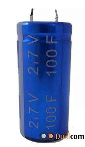 Super Capacitor Eletrolítico Radial 100F/2.7V D22H45 PTH S0015