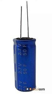 Super Capacitor Eletrolítico Radial 50F/2.7V D18H41 PTH S0014