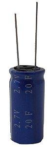 Super Capacitor Eletrolítico Radial 20F/2.7V D16H34 PTH S0012