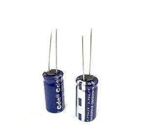 Super Capacitor Eletrolítico Radial 4.7F 2.7V D10H20 PTH S0009