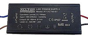 Fonte Driver para 3 a 4 LEDs de 2W ou 3W Bivolt IP67 K1735