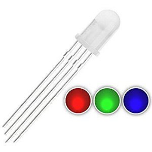 LED 5mm RGB Anodo Comum 4 pinos Difuso Leitoso K1699