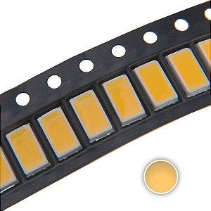LED 5730 0.5W Branco Quente 3000-3200K SMD K1895