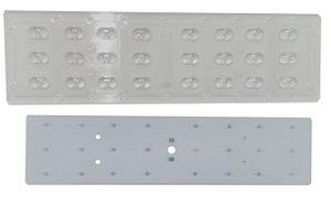 Lente 85-155 Graus + Placa MCPCB Para 24 LEDs Cree XPE XPG XTE 3535 K2073