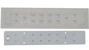 Lente 60-150 Graus + Placa MCPCB Para 14 LEDs Cree XPE XPG XTE 3535 K2072