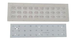 Lente 60-145 Graus + Placa MCPCB Para 30 LEDs Cree XPE XPG XTE 3535 K2071