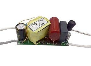 Fonte Driver para 5 A 7 LEDs De 1w Dimerizavel 110V K2016