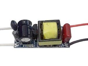 Fonte Driver para 7 A 18 LEDs De 1w Dimerizavel 220V K2015